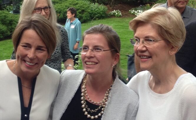 Maura Healey, Marjorie Decker, and Elizabeth Warren